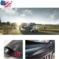 Car Body Sticker Dual Racing Stripe Decal Vinyl Grey&Black DIY Waistline Graphic