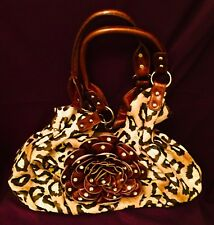 Leopard Print Purse with Bedazzled Decorative Flower