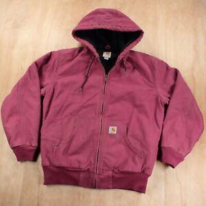 CARHARTT WJ130 648 women's canvas active work jacket MEDIUM workwear duck pink