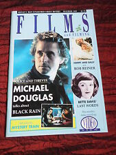 FILMS AND FILMING - UK MOVIE MAGAZINE - DEC 1989 - MICHAEL DOUGLAS- BETTE DAVIS