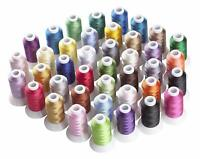 Machine Embroidery Thread Polyester 40 Spools Vibrant Colors Lot Each Brother
