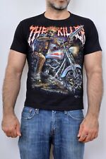 Rock Chang The Killer Motorcycle Biker Be my Victim Gothic Style Black T SHIRT S
