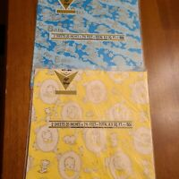 Vintage misc lot Wrapping Paper Sheets Baby Shower Theme  baby Gift Wrap