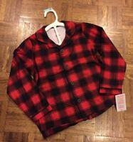 Unisex Just One You Pajamas Set Christmas Pajamas Buffalo Plaid Red Black 5T NWT