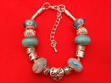 Handmade Beautiful Light Blue ' Sweet 16 ' Bracelet with Gift Box