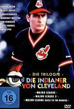 Major League 1 2 & 3 trilogy (Charlie Sheen)  -  PAL UK Region 2 DVD BoxSet NEW