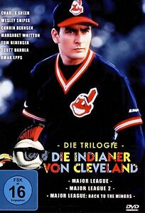 Major League 1 2 3 trilogy (Charlie Sheen)  PAL UK Region 2 DVD 1-3 BoxSet NEW