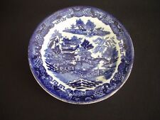 """VINTAGE BLUE & WHITE WILLOW PATTERN -6"""" TEA/SIDE PLATE"""