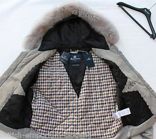 BNWT Short Grey Aquascutum WARWICK Parka Coat MADE in ITALY Size XXL