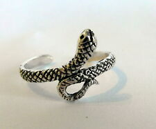 Sterling Silver (925) Adjustable Cobra Snake Toe Ring ! Brand New !
