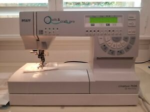PFAFF Creative QUILT & CRAFT PRO, Model 7530 Sewing Machine Made in Germany