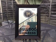 More details for guinness breweriana vintage bull dog guinness mirror.