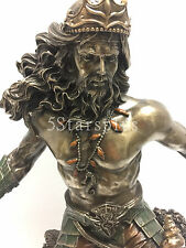 "LARG Poseidon God of Sea Statue Sculpture Figurine Greek God of the Sea 21"" Tall"