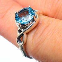 Blue Topaz 925 Sterling Silver Ring Size 6.25 Ana Co Jewelry R28810F