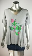 SOUTHERN STITCH Texas State Cactus Gray Shirt size LARGE L