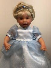 "9� Lee Middleton Vinyl Dolls Miniatures ""Cinderella� Reva Schick Princess W/ Box"