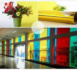 A4 Transparent Window Film Color Solar Tint Selfadhesive Stain Glass Decor Vinyl