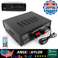 BLUETOOTH HOME THEATER STEREO AMPLIFIER EQUALIZER KARAOKE 2-CH USB SD 110V NEW