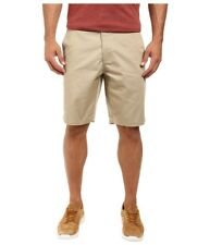 """$125 RVCA MEN'S BEIGE WEEKENDER CHINO FLAT FRONT 10""""in CASUAL SHORTS SIZE 30"""