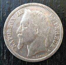 1 franc Napoleon III 1867 A Paris Argent patine d'origine