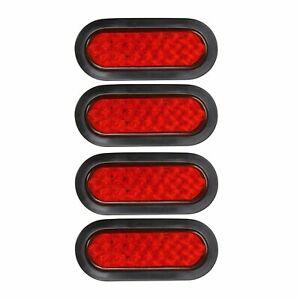 6 Red Rectangular Led Stop Turn Tail Brake Lights 6 Amber Miro-Reflex Trailer Turn Signal and Parking Light Partsam 10 Pcs 21 LED Side Marker Clearance Light Rectangle 12V Truck Trailer Camper