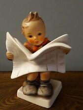 New ListingVintage Goebel Hummel Figurine #184 Latest News Boy Munchener Presse Newspaper