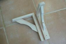 """Wooden Shelf Brackets x 2 (Ideal for 8"""" - 9.5"""" Shelves)"""
