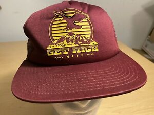 NEFF Get High Snapback Trucker Hat Cap Eagle Mountains