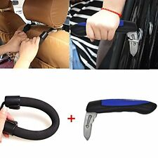 Handy Bar Car Door Handle + Assist Grab Strap Set- Vehicle Cane Aid for Standing