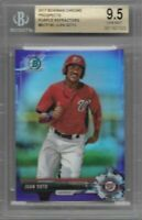 JUAN SOTO 2017 BOWMAN CHROME PROSPESCTS PURPLE REFRACTOR BGS 9.5 GEM MINT /250