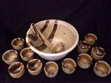 SET of 15 Otagiri BIG Soup Punch Ladle Stoneware Japan Rustic Bowls Cups In BOX