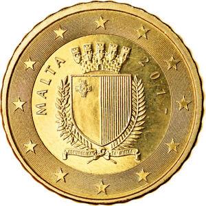 [#766202] Malte, 10 Euro Cent, 2017, SPL, Laiton