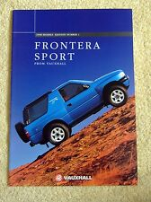 Vauxhall Frontera Sport 1998 Models No1, 2.0i & 2.5TDS