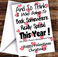 NEW PERSONALISED NOVELTY VALENTINES DAY CARD ADD ANY NAME & TEXT! 1