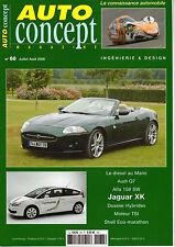 REVUE MAGAZINE AUTO CONCEPT N°68 07/08 2006 AUDI Q7 ALFA 159 SW JAGUAR XK SUZUKI