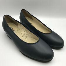 Softspots Stephanie Navy Blue Slight Wedge Heal Comfort Shoe Flats Womans 10W