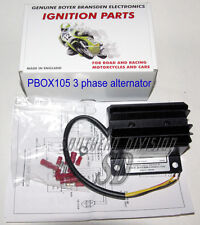 Boyer Powerbox Pbox105 regulator three phase alternator Norton Triumph drehstrom