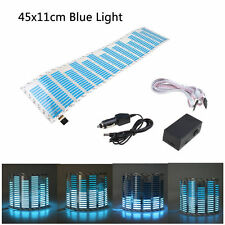 45x11cm Blue Car LED Sticker Flash Lamp Light Music Sound Activated Equalizer
