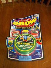 Magic Grow Capsule set Farm Animals 6 Grow Capsules Ja-Ru Educational Toy Fun