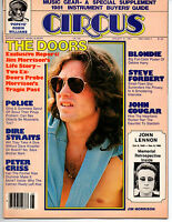 CIRCUS MAGAZINE January 1981 Blondie Police Doors Dire Straits John Lennon - A