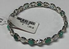 Ippolita 925 Sterling Silver Multi Stone MOP Green Rock Candy Bangle Bracelet