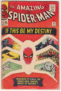 Amazing Spider-Man #31 Good-Very Good 3.0 First Appearance Of Gwen Stacy 1965