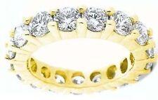 5.1 ct Round Diamond Eternity Ring 14k Yellow Gold Band 17 x .30 ct Gia E-F sz 8