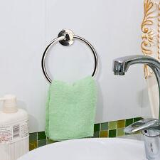 Aluminium rond porte serviette mural salle de bain serviette anneaux