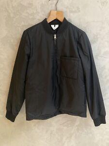 Arket Black Nylon Jacket Size 36 / UK 10 Shower Proof Worn Twice Zip Bomber Coat