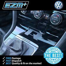 EZM VW Golf R 7 MK7 MK7.5 Centre Console 'R' Sticker Decal MATT BLACK