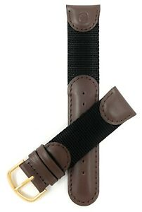 Bandini Vintage Leather / Nylon Watch Band - Replacement for Swiss Army Watches