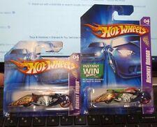 Short & Reg CARD VARIATION - 2006 HOT WHEELS HIGHWAY HORROR ~ W-OOZIE MOTORCYCLE