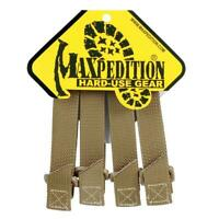 "Maxpedition 3"" TacTie Attachment MOLLE Strap Tactical PALS Equipment 4pk TAN-"