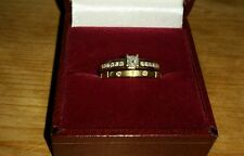Princess Square Diamond Solitaire Engagement Ring 18ct Gold Wedding Band Size J